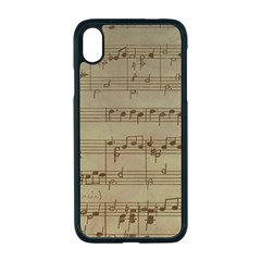 Vintage Sheet Music Background Apple Iphone Xr Seamless Case (black)