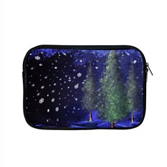 Winter Wonderland Night Snow Apple Macbook Pro 15  Zipper Case by Pakrebo