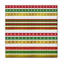 Christmas Ribbons Christmas Gold Tile Coasters