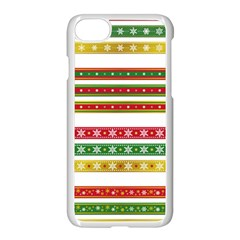 Christmas Ribbons Christmas Gold Apple Iphone 8 Seamless Case (white)