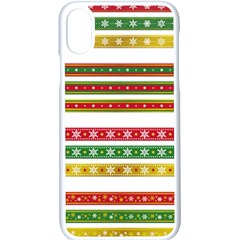 Christmas Ribbons Christmas Gold Apple Iphone X Seamless Case (white)