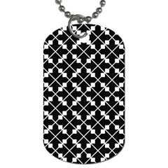 Abstract Background Arrow Dog Tag (two Sides)
