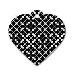 Abstract Background Arrow Dog Tag Heart (two Sides)