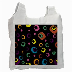 Abstract Background Retro 60s 70s Recycle Bag (one Side)