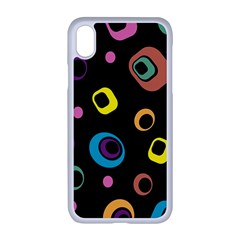 Abstract Background Retro 60s 70s Apple Iphone Xr Seamless Case (white)