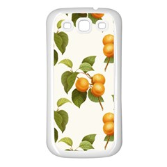 Apricot Fruit Vintage Art Samsung Galaxy S3 Back Case (white)