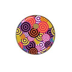 Abstract Circles Background Retro Hat Clip Ball Marker (10 Pack)