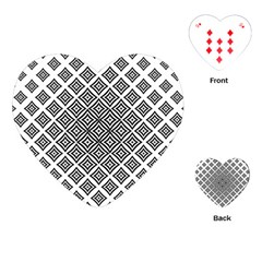 Background Pattern Halftone Playing Cards (heart)
