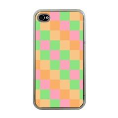 Checkerboard Pastel Squares Apple Iphone 4 Case (clear) by Pakrebo