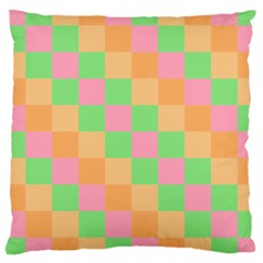 Checkerboard Pastel Squares Large Cushion Case (two Sides)