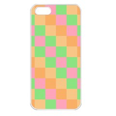 Checkerboard Pastel Squares Apple Iphone 5 Seamless Case (white) by Pakrebo