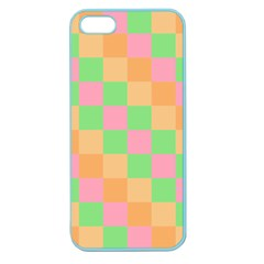 Checkerboard Pastel Squares Apple Seamless Iphone 5 Case (color) by Pakrebo