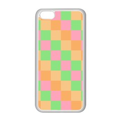 Checkerboard Pastel Squares Apple Iphone 5c Seamless Case (white) by Pakrebo
