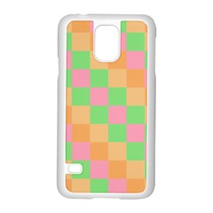 Checkerboard Pastel Squares Samsung Galaxy S5 Case (white)
