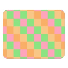 Checkerboard Pastel Squares Double Sided Flano Blanket (large)  by Pakrebo