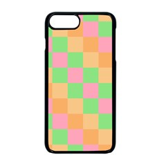 Checkerboard Pastel Squares Apple Iphone 8 Plus Seamless Case (black) by Pakrebo