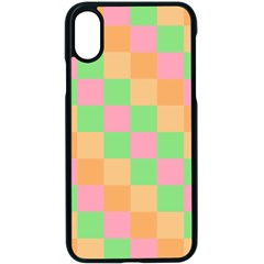 Checkerboard Pastel Squares Apple Iphone Xs Seamless Case (black) by Pakrebo