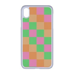 Checkerboard Pastel Squares Apple Iphone Xr Seamless Case (white) by Pakrebo
