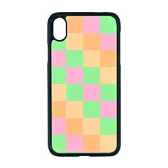Checkerboard Pastel Squares Apple Iphone Xr Seamless Case (black)