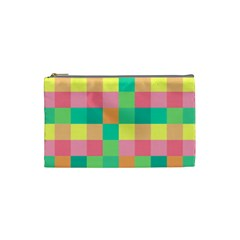 Checkerboard Pastel Squares Cosmetic Bag (small) by Pakrebo