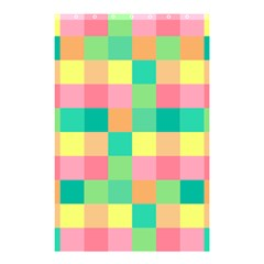 Checkerboard Pastel Squares Shower Curtain 48  X 72  (small)