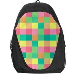 Checkerboard Pastel Squares Backpack Bag
