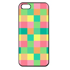 Checkerboard Pastel Squares Apple Iphone 5 Seamless Case (black) by Pakrebo