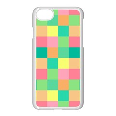 Checkerboard Pastel Squares Apple Iphone 7 Seamless Case (white) by Pakrebo