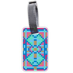Checkerboard Squares Abstract Luggage Tags (two Sides) by Pakrebo