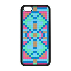 Checkerboard Squares Abstract Apple Iphone 5c Seamless Case (black)