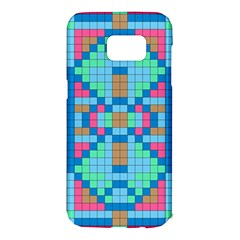 Checkerboard Squares Abstract Samsung Galaxy S7 Edge Hardshell Case