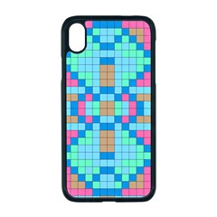 Checkerboard Squares Abstract Apple Iphone Xr Seamless Case (black)