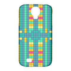 Checkerboard Squares Abstract Samsung Galaxy S4 Classic Hardshell Case (pc+silicone)