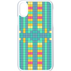 Checkerboard Squares Abstract Apple Iphone Xs Seamless Case (white)