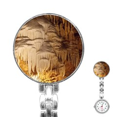 Caverns Rock Formation Cave Rock Stainless Steel Nurses Watch