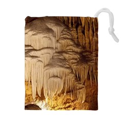 Caverns Rock Formation Cave Rock Drawstring Pouch (xl)
