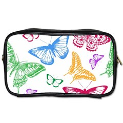 Butterfly Butterflies Vintage Toiletries Bag (two Sides) by Pakrebo