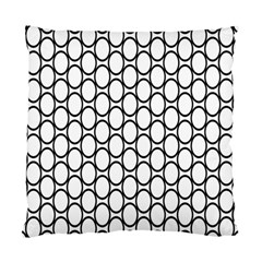 Black Pattern Halftone Wallpaper Standard Cushion Case (two Sides)