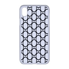 Black Pattern Halftone Wallpaper Apple Iphone Xr Seamless Case (white)
