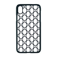 Black Pattern Halftone Wallpaper Apple Iphone Xr Seamless Case (black)