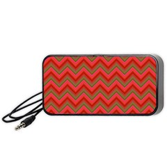 Background Retro Red Zigzag Portable Speaker