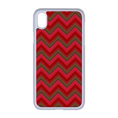 Background Retro Red Zigzag Apple Iphone Xr Seamless Case (white)