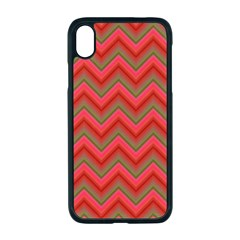 Background Retro Red Zigzag Apple Iphone Xr Seamless Case (black)