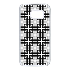 Pattern Vector Halftone Wallpaper Samsung Galaxy S7 White Seamless Case