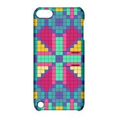 Checkerboard Squares Abstract Apple Ipod Touch 5 Hardshell Case With Stand