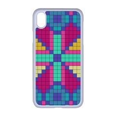 Checkerboard Squares Abstract Apple Iphone Xr Seamless Case (white)