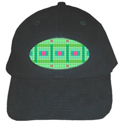 Checkerboard Squares Abstract Black Cap