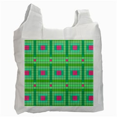 Checkerboard Squares Abstract Recycle Bag (one Side)