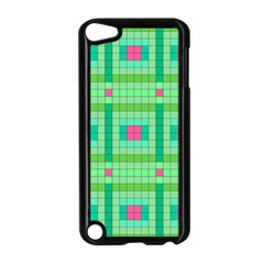 Checkerboard Squares Abstract Apple Ipod Touch 5 Case (black)
