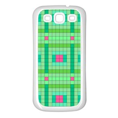Checkerboard Squares Abstract Samsung Galaxy S3 Back Case (white)
